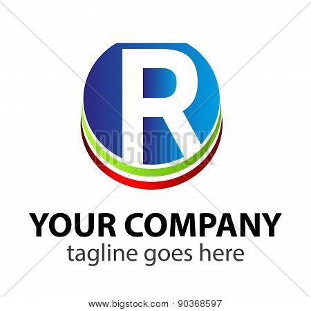Letter R logo icon symbol