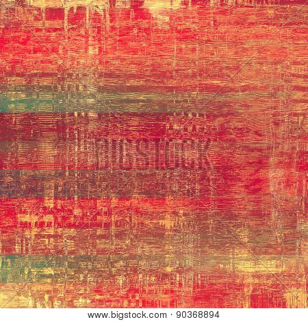 Textured old pattern as background. With different color patterns: yellow (beige); gray; pink; red (orange)