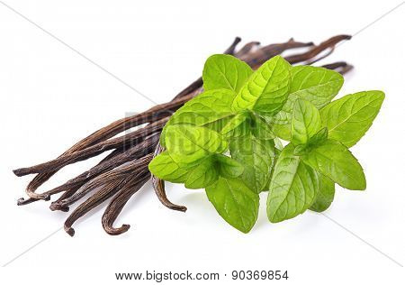 Mint with vanilla