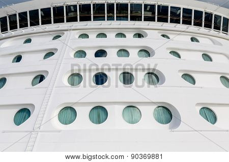 Ships Portholes Under Wide Bridge