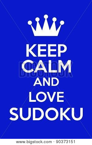 Keep Calm And Love Sudoku