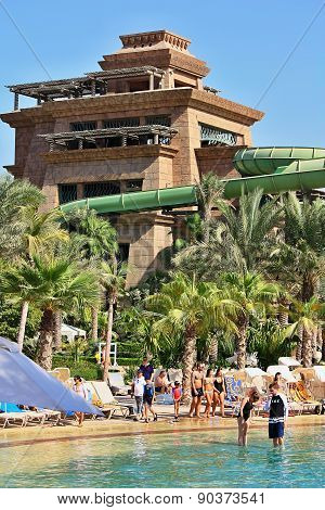 The Aquaventure waterpark of Atlantis the Palm hotel