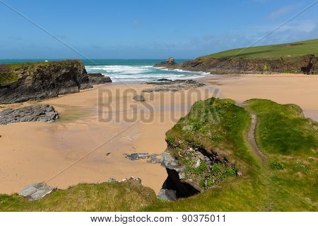 Trevone Bay North Cornwall England UK near Padstow and Newquay