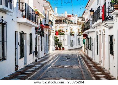 Picturesque Street Of Rancho Domingo. Spain