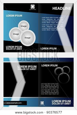 Brochure template design, business leaflet, booklet