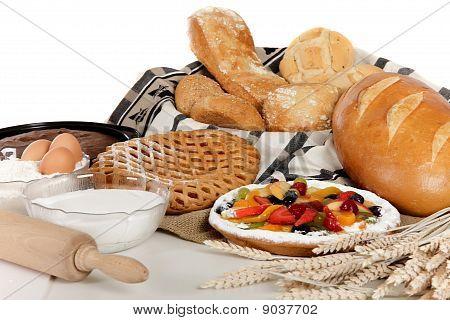 Tipo de pan, pastel, ingredientes de frutas