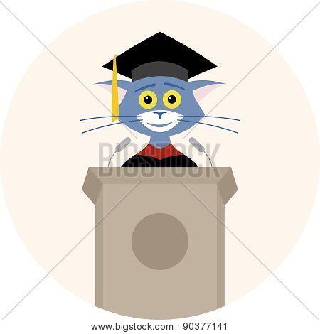 Cat Graduate