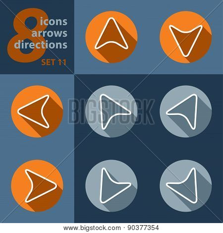 Set Of Eight Icons - In All Directions
