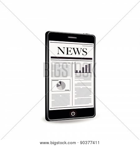 Smart phone with newspaper