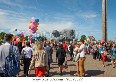 Victory parade in Brest on honor of the seventieth anniversary Great Patriotic War