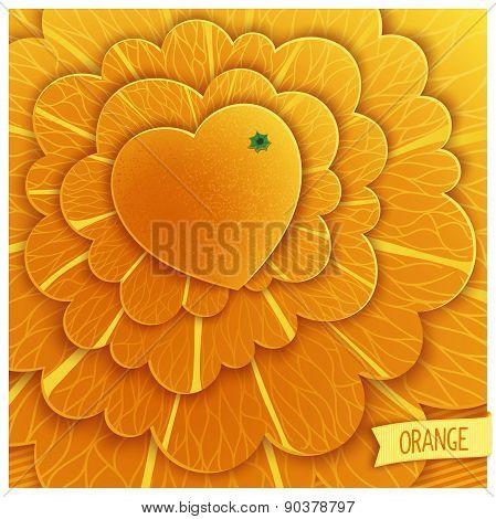 Love oranges fun design