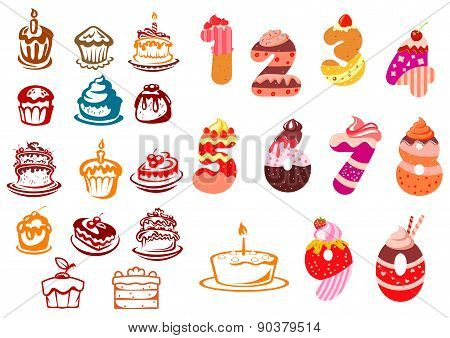 Collection of kids birthday icons