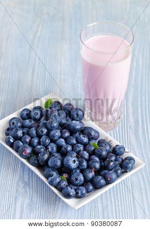Blueberry Yogurt And Berries