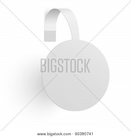 Advertising Wobbler Isolated On White Background