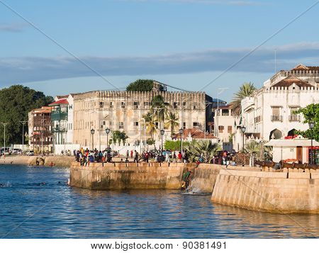 Waterfront in Stone Town, Zanzibar