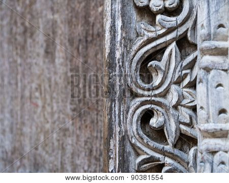 Ornaments on a traditional door in Stone Town, Zanzibar