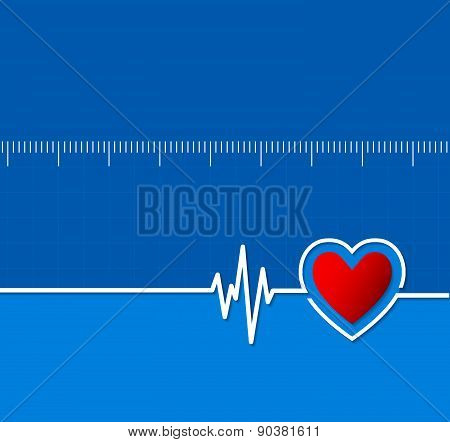 Cardiograms. Medical Heart Rhythm.heart Beat.cardiology Background