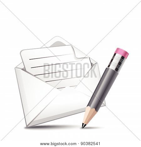 Mail and pencil