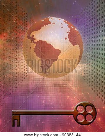 Earth Binary Code and Key