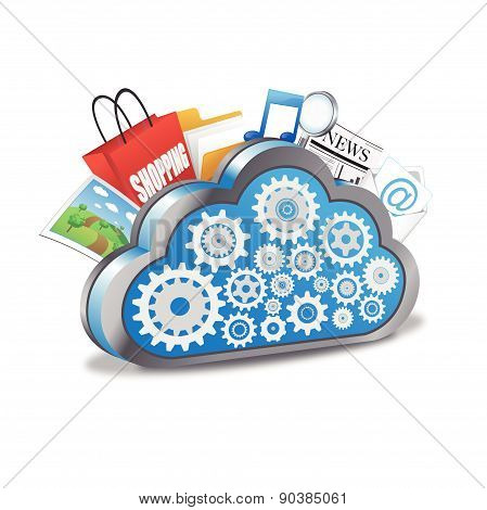 Cloud computing with many applications