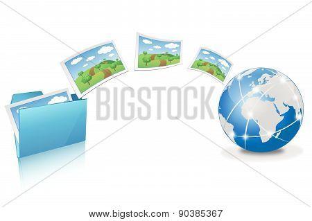 Uploading pictures from blue folder