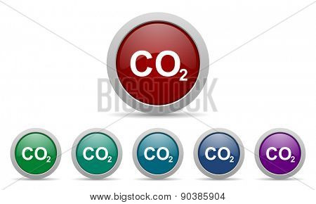 carbon dioxide icon co2 sign