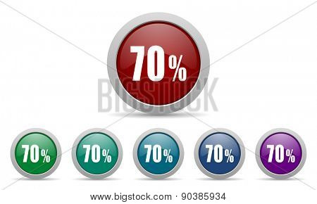 70 percent icon sale sign