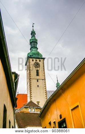 Old Tower With Clock