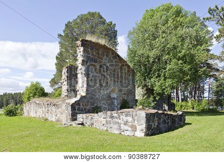 Ruins of a church from 1178 A.D.