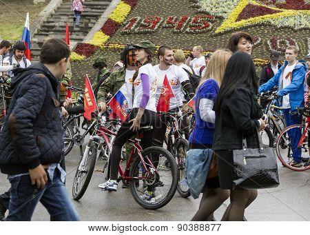 Cyclists.