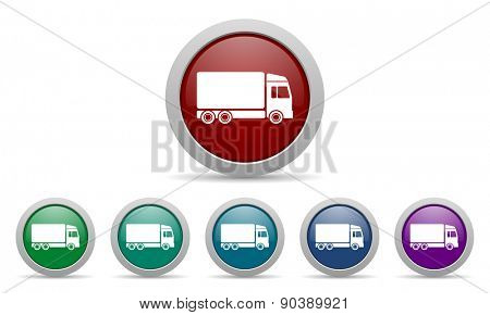 delivery icon truck sign