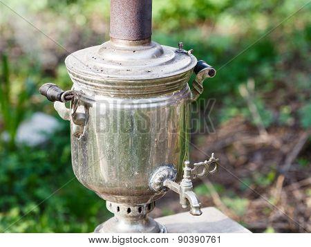 Old Steel Samovar - Boiling Kettle