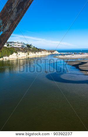 San Lorenzo River mouth, Santa Cruz, California
