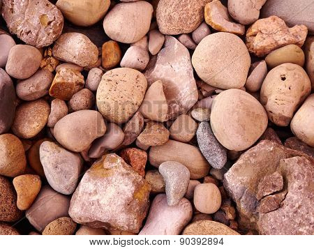 Close Up of Rocks on the ground
