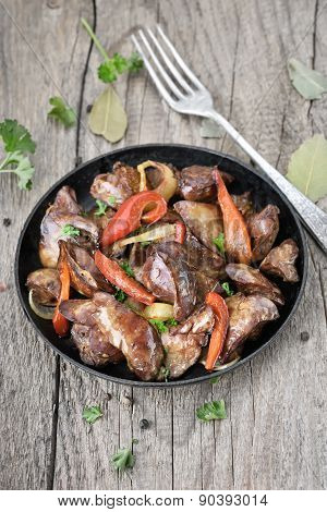 Roasted Chicken Liver