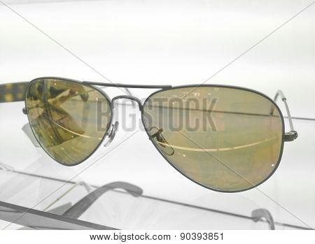 Yellow Coated Sun Glasses