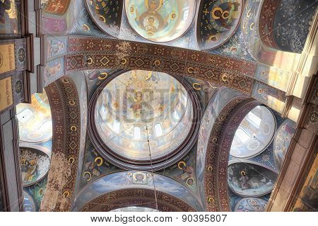 Abkhazia. New Athos Simon The Zealot Monastery. Ceiling Of Temple