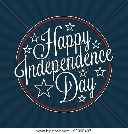 Happy Independence Day Lettering