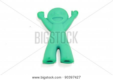 Blue Chop Sticks Holder doll