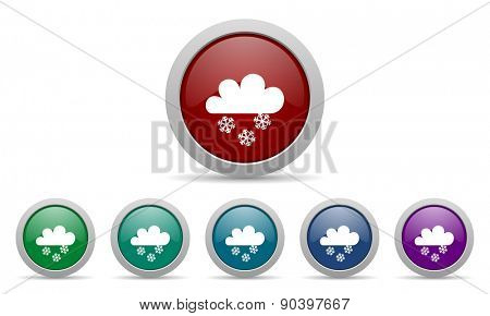 snowing icon waether forecast sign