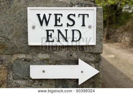 West End Sign.