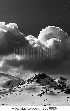 Black And White Snow Mountains
