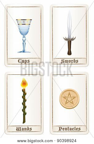 Tarot Pentacles Swords Wands Cups
