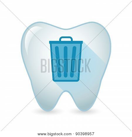 Tooth Icon With A Trash Can