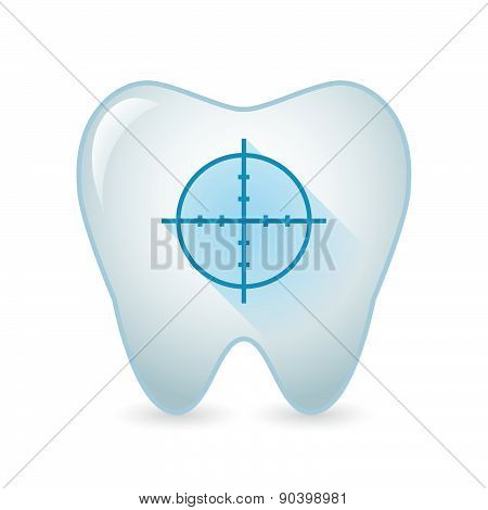 Tooth Icon With A Crosshair