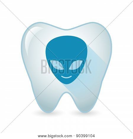 Tooth Icon With An Alien Face