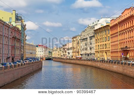 View Of The Moyka River, St. Petersburg