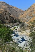 picture of drought  - The Kern River flows down through the canyon from the Sierras to the Southern San Joaquin Valley - JPG