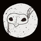 stock photo of masquerade  - Masquerade Mask Doodle - JPG