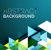 foto of color geometric shape  - Abstract geometric background - JPG